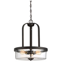 Tulsa 3 Light 17 inch English Bronze Pendant Ceiling Light