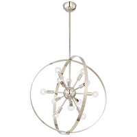 Marly 12 Light 25 inch Polished Nickel Chandelier Ceiling Light