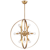 Savoy House 7-6098-12-322 Marly 12 Light 25 inch Warm Brass Chandelier Ceiling Light