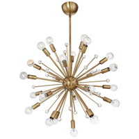 Savoy House 7-6099-24-322 Galea 24 Light 23 inch Warm Brass Chandelier Ceiling Light