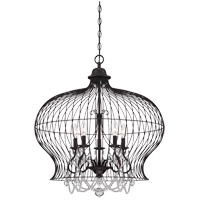 Savoy House Abagail 5 Light Pendant in Forged Black 7-6101-5-17