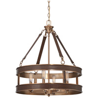 Savoy House 7-614-4-50 Harrington 4 Light 22 inch Harness Leather with Rubbed Brass Pendant Ceiling Light alternative photo thumbnail