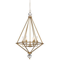 Savoy House Tekoa 6 Light Pendant in Warm Brass 7-680-6-322
