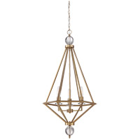 Tekoa 3 Light 20 inch Warm Brass Pendant Ceiling Light