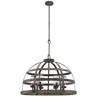 Aiken 6 Light 32 inch Winterwood Outdoor Pendant
