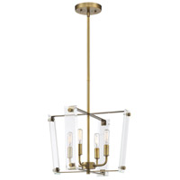 Savoy House 7-7111-4-322 Everett 4 Light 16 inch Warm Brass Pendant Ceiling Light
