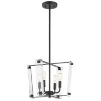 Savoy House 7-7111-4-89 Everett 4 Light 16 inch Matte Black Pendant Ceiling Light
