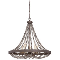 Mallory 5 Light 30 inch Fossil Stone Pendant Ceiling Light
