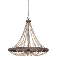 Savoy House 7-7406-5-39 Mallory 5 Light 30 inch Fossil Stone Pendant Ceiling Light