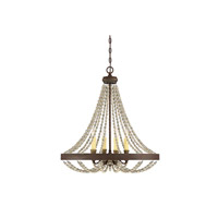 Savoy House 7-7408-4-39 Mallory 4 Light 26 inch Fossil Stone Chandelier Ceiling Light