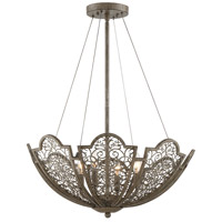 Hartland 4 Light 24 inch Aged Wood Pendant Ceiling Light