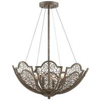 Savoy House 7-8060-4-45 Hartland 4 Light 24 inch Aged Wood Pendant Ceiling Light