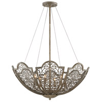 Hartland 6 Light 30 inch Aged Wood Pendant Ceiling Light