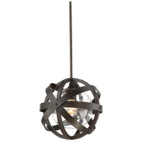 Bassett 1 Light 12 inch English Bronze Outdoor Pendant