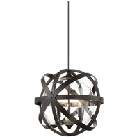Bassett 3 Light 17 inch English Bronze Outdoor Pendant