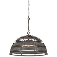 Malden 3 Light 23 inch Raw Steel Pendant Ceiling Light