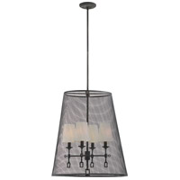 Lorainne 4 Light 22 inch Oxidized Black Foyer Ceiling Light