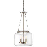 Akron 3 Light 12 inch Polished Nickel Pendant Ceiling Light