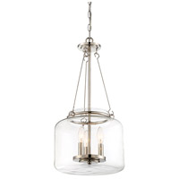 Savoy House 7-9006-3-109 Akron 3 Light 12 inch Polished Nickel Pendant Ceiling Light alternative photo thumbnail