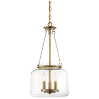 Savoy House 7-9006-3-322 Akron 3 Light 12 inch Warm Brass Pendant Ceiling Light