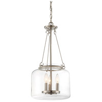 Savoy House 7-9006-3-SN Akron 3 Light 12 inch Satin Nickel Pendant Ceiling Light alternative photo thumbnail
