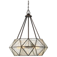 Tartan 5 Light 28 inch Oiled Burnished Bronze Pendant Ceiling Light