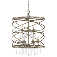 Trumbull 9 Light 26 inch Brittannia Gold Pendant Ceiling Light