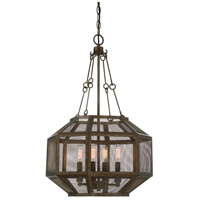 Armour 4 Light 16 inch Galaxy Bronze Pendant Ceiling Light