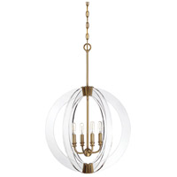 Savoy House 7-9161-4-322 Epsilon 4 Light 20 inch Warm Brass Pendant Ceiling Light