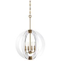 Savoy House 7-9161-4-322 Epsilon 4 Light 20 inch Warm Brass Pendant Ceiling Light