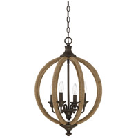 Savoy House 7-9215-4-32 Findlay 4 Light 17 inch Artisan Rust Pendant Ceiling Light