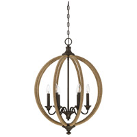 Findlay 6 Light 22 inch Artisan Rust Pendant Ceiling Light
