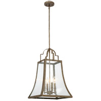 Belle 4 Light 14 inch Chateau Linen Pendant Ceiling Light