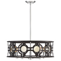 Savoy House 7-9223-5-107 Chennal 5 Light 24 inch Bronze / Chrome / Antique Mirror Accents Pendant Ceiling Light