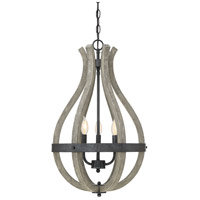 Carrolton 3 Light 16 inch Weathered Birch Pendant Ceiling Light