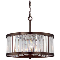 Tierney 5 Light 21 inch Burnished Bronze Pendant Ceiling Light