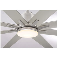 Savoy House 72-5045-8SV-SN Bluffton 72 inch Satin Nickel with Silver Blades Outdoor Ceiling Fan alternative photo thumbnail