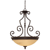 Knight 3 Light 24 inch Antique Copper Pendant Ceiling Light, Bowl