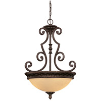Knight 2 Light 18 inch Antique Copper Pendant Ceiling Light, Bowl