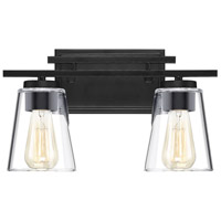 Savoy House 8-1020-2-BK Calhoun 2 Light 15 inch Black Bath Bar Wall Light