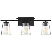 Calhoun 3 Light 24 inch Black Bath Bar Wall Light