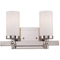 Manhattan 2 Light 12 inch Polished Nickel Bath Bar Wall Light