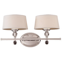 Murren 2 Light 18 inch Polished Nickel Bath Bar Wall Light