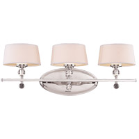 Murren 3 Light 27 inch Polished Nickel Bath Bar Wall Light