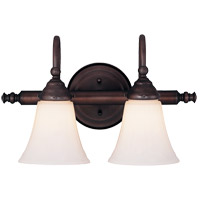 Brunswick 2 Light 16 inch English Bronze Bath Bar Wall Light, Glass Sold Separately