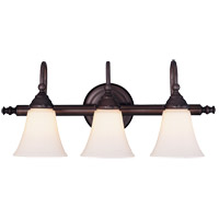Brunswick 3 Light 23 inch English Bronze Bath Bar Wall Light, Glass Sold Separately