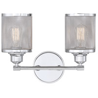 Salvador 2 Light 16 inch Polished Chrome Bath Bar Wall Light