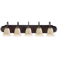 Summergrove 5 Light 39 inch English Bronze Bath Bar Wall Light