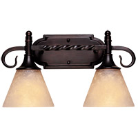 Essex 2 Light 15 inch English Bronze Bath Bar Wall Light in Cream Scavo
