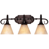 Essex 3 Light 21 inch English Bronze Bath Bar Wall Light in Cream Scavo